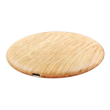 Portable Qi Wireless Charger Charging Slim Wood For Apple iP