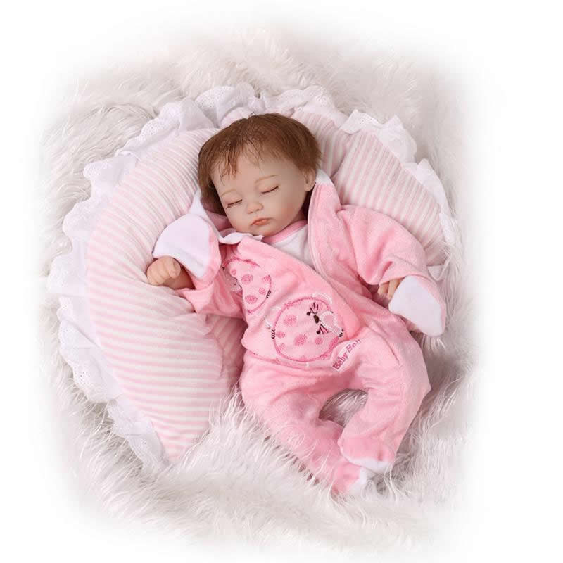 【Real Touch Sleeping Reborn Baby Baby Doll Silicone Soft