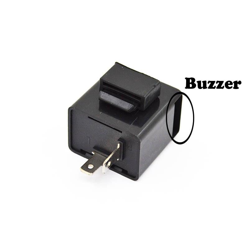 2 Pin Speed Adjustable LED Flasher Relay Motorcycle Turn Signal Indicator VG