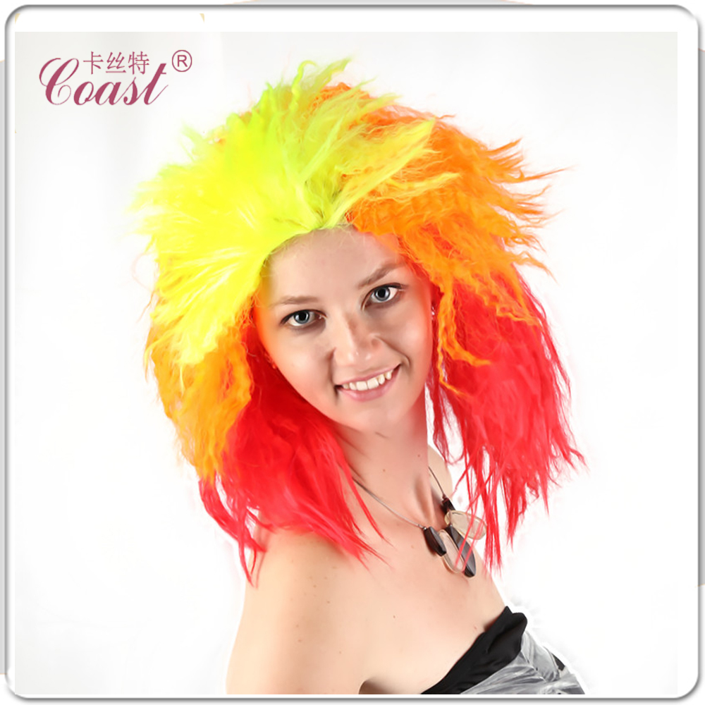 80s Hairstyles moda elegante anni 80 cerca con google Heat Resistant Synthetic Fiber Full Lace Hair Wig Deluxe Punk 80s True Colours Party Curly Wigqy