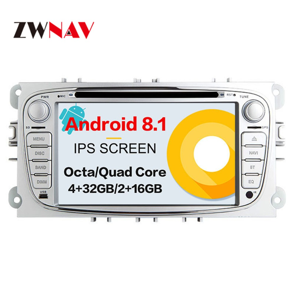 Android 8 4+32GB Car GPS Navigation DVD Player Radio ISP Screen For Ford Focus 2004-2011 FORD MONDEO FOCUS S-MAX Kuga Galax MK3 trinity для ford c max ford focus ford galaxy ford mondeo ford s max 2007 2011