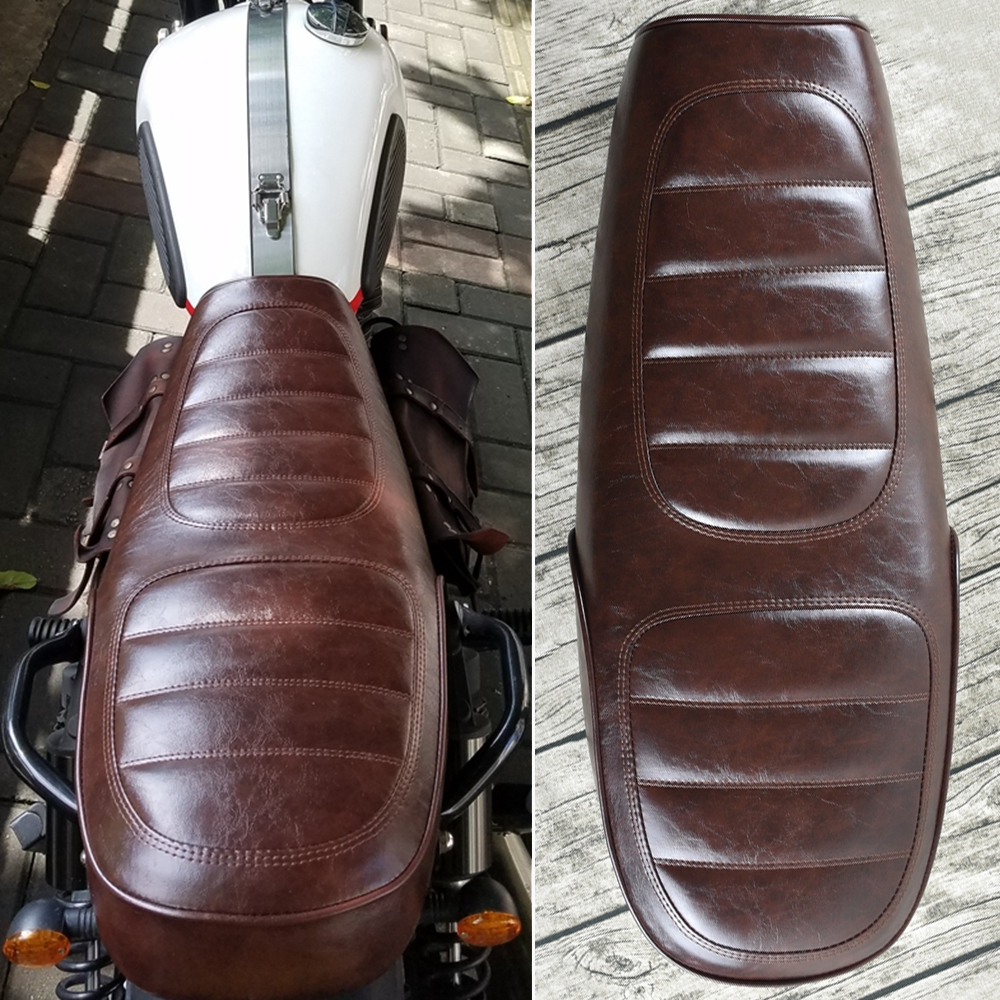 MAYITR Brown Motorcycle Cafe Racer Seat Custom Vintage Hump Saddle Flat Pan Retro Seat Universal Design maisel jordana universal design creating inclusive environments