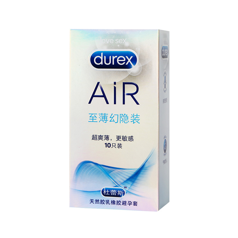 Durex Wholesale Authenticity Large Size Condom Box Ultra Thin Spike Condoms for Men Flexibility 10 Pcs Air Sex Product Shop