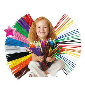 100 sztuk partia 30cm Mix kolor czyściki szenilowe Handmade dzieci Craft materiał dzieci kreatywność dostarcza zabawki DIY czyścik do rur 5mm Dia tanie i dobre opinie CRT02-01 Beadia Other