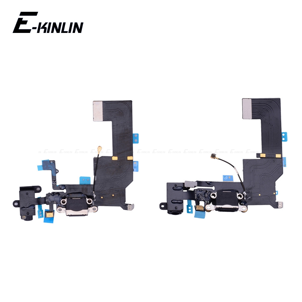 New Bottom Charger Charging Port Dock USB Connector Data Headphone Jack Flex Ribbon Cable For IPhone 4 4S 5 5S 5C SE