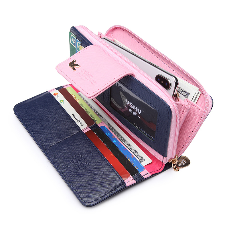 Maillusion Fashion Wallet Female Leather Lady Long Clutch Purse Rfid Zipper Hasp Woma Wallets Card Holder Colorful Clutch Bag