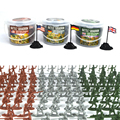 Bottled 100pcs Mini Plastic Soldier Toys 12 models, Military toy soldier, Toys for boys