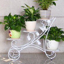 European flower wrought iron balcony hanging basket ground multi orchid green flower shelf special offer room