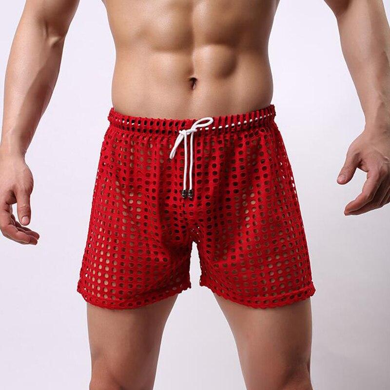 Mens sexy sheer striped underwear lingerie long lounge pyjama pajamas hot sale