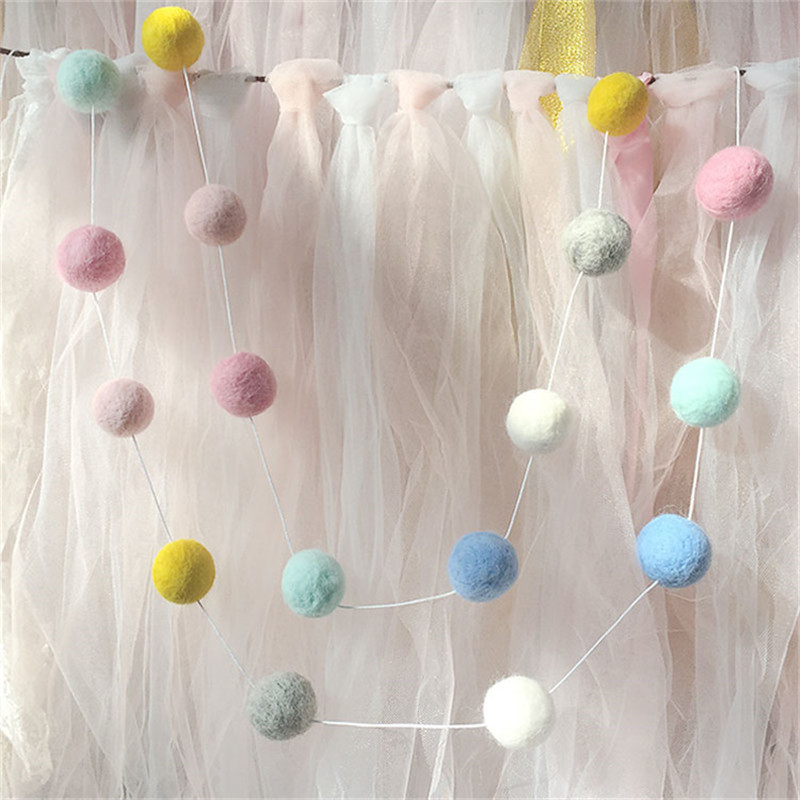 2M Handmade Macaron Ball Decoration Pillow Baby Kids Tent Room Decor Accessory Wall Hanging Photography Props