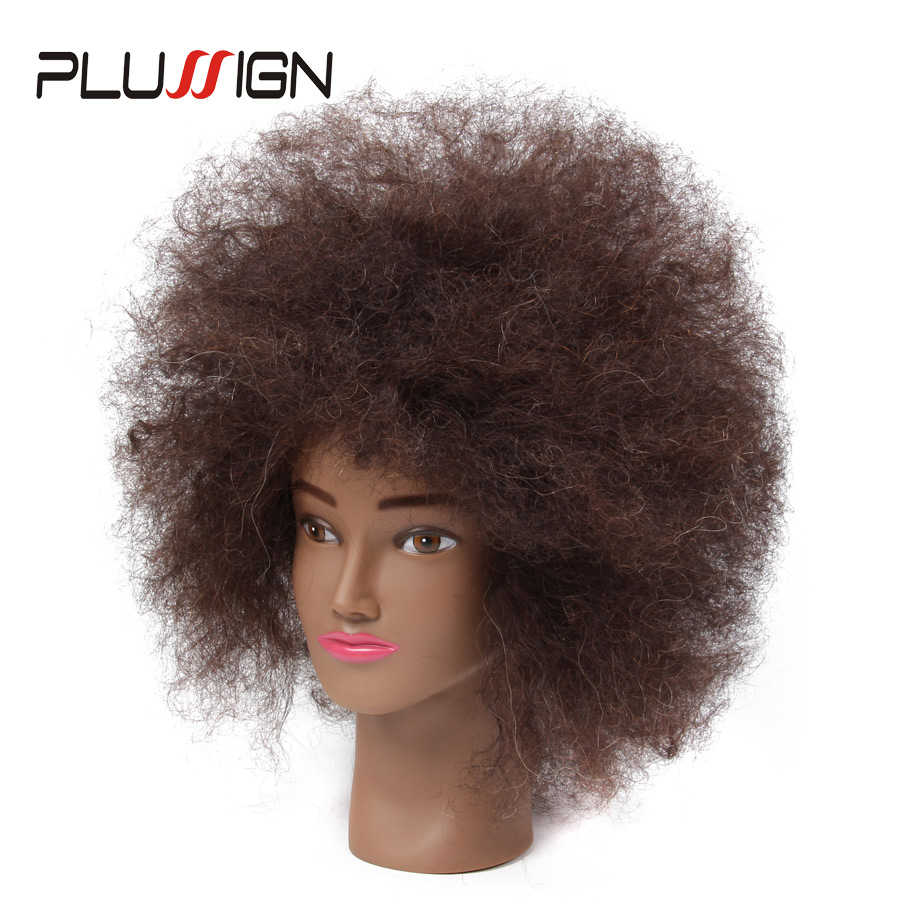 Afro Natural Hair Mannequin Head 100 Human Hair Hairdresser Training Head With Clamp Kit For Hair Cutting Styling For Practice mannequin head african american afro hair with manikin for practice styling braiding