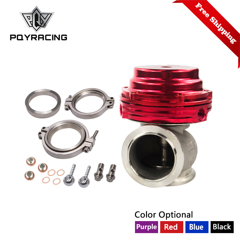 купить Free Shipping MVS 38mm Wastegate Aluminum Top Steel V-band Gold External Waste Gate For Supercharge Turbo Manifold 14PSI PQY5831 по цене 3367.92 рублей