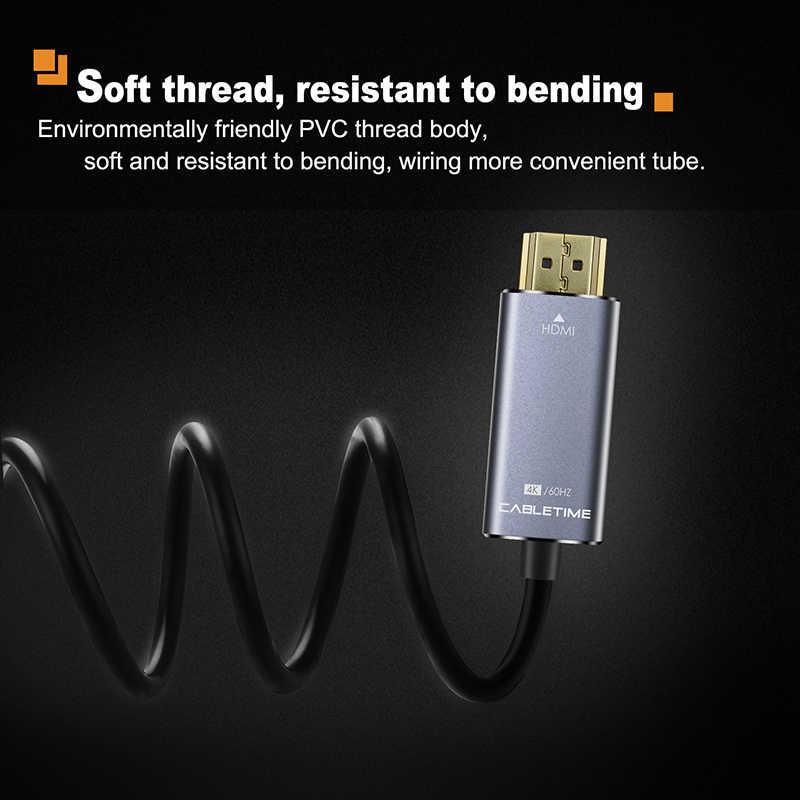 Cabletime usb c hdmi ケーブルタイプ c hdmi m/m 4 18k 60 60hz のコンバータ 1.8 メートルケーブル macbook の三星銀河 S8 + C028