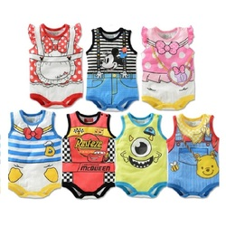 2017 summer cartoon baby bodysuit mickey boys clothes minnie baby girl jumpsuits daisy donald duck newborn.jpg 250x250