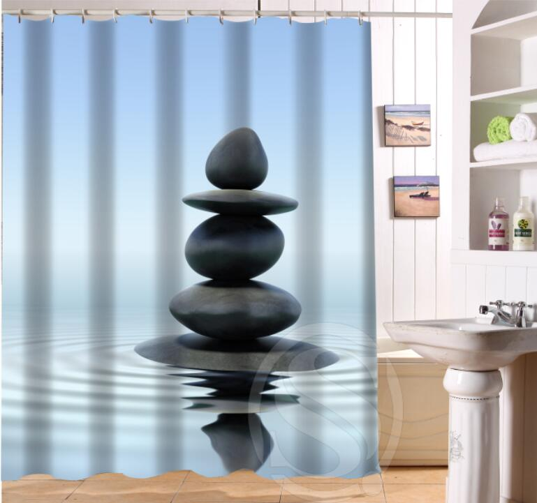 High Quality Aliexpress.com : Buy ShunQian Zen Stone Custom Shower Curtain Bath Curtain  Bamboo, Candle, Orchid Flwer,Plant Waterproof Bathroom Curtain Shower From  ...