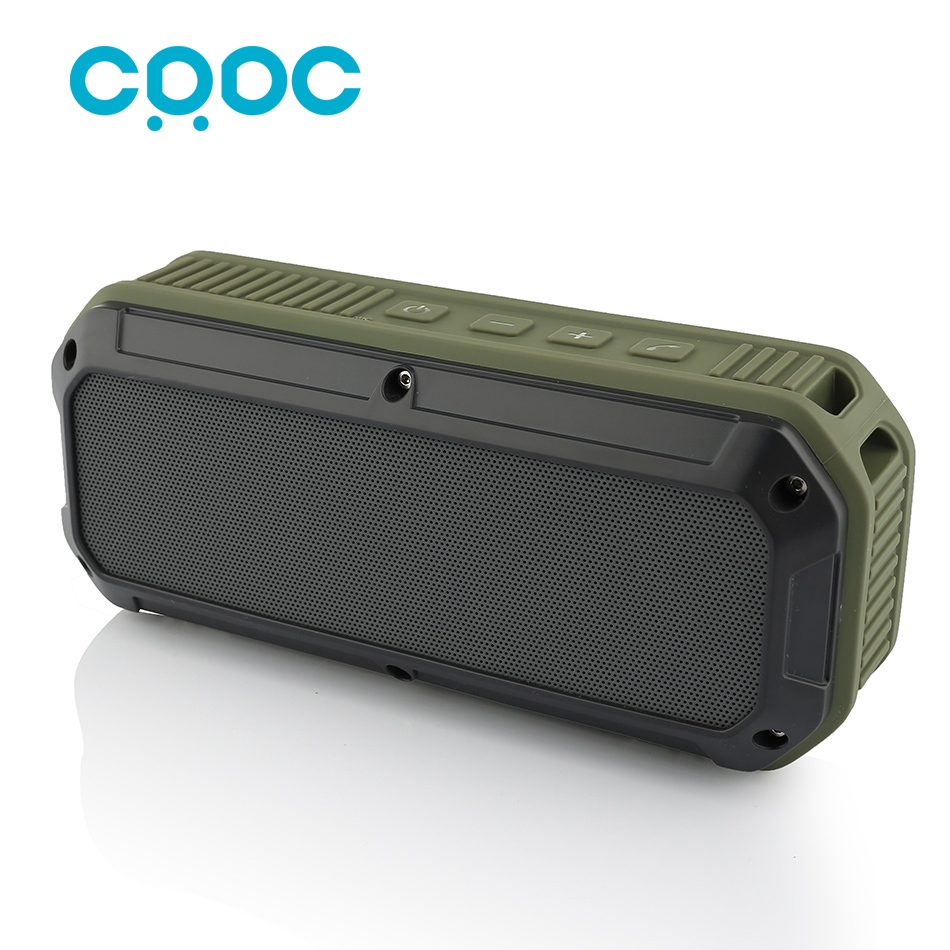 CRDC Bluetooth speaker 4 0 Portable Wireless Mini Sound Box Column Three Proofing Outdoor Design Bass