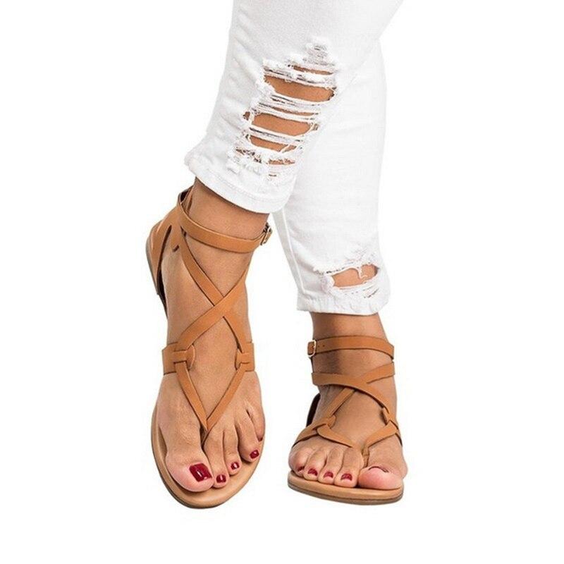 79e0d3a58c Décontractées Rome Plage Beige Pour gold D'été Sandales Talon Faible Femme  2019 Chaussures brown Femmes ...