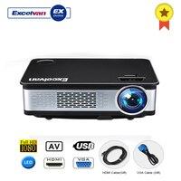 Excelvan Z720 мультимедийный проектор 1280*768 родное разрешение 3300 люмен поддержка 1080 P HDMI VGA USB * 2 AV интерфейсы домашнего использования