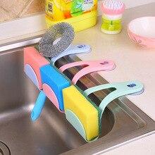 Креативные Висячие пакеты с губкой на присоске, пластиковые сливные корзины для кухонных принадлежностей, стеллажи для стока, полки