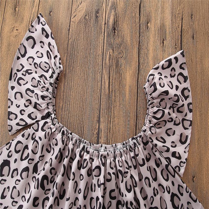 2018 ins hot sale meisjesmode kleding sets Leopard raglan mouw tops + - Kinderkleding - Foto 5