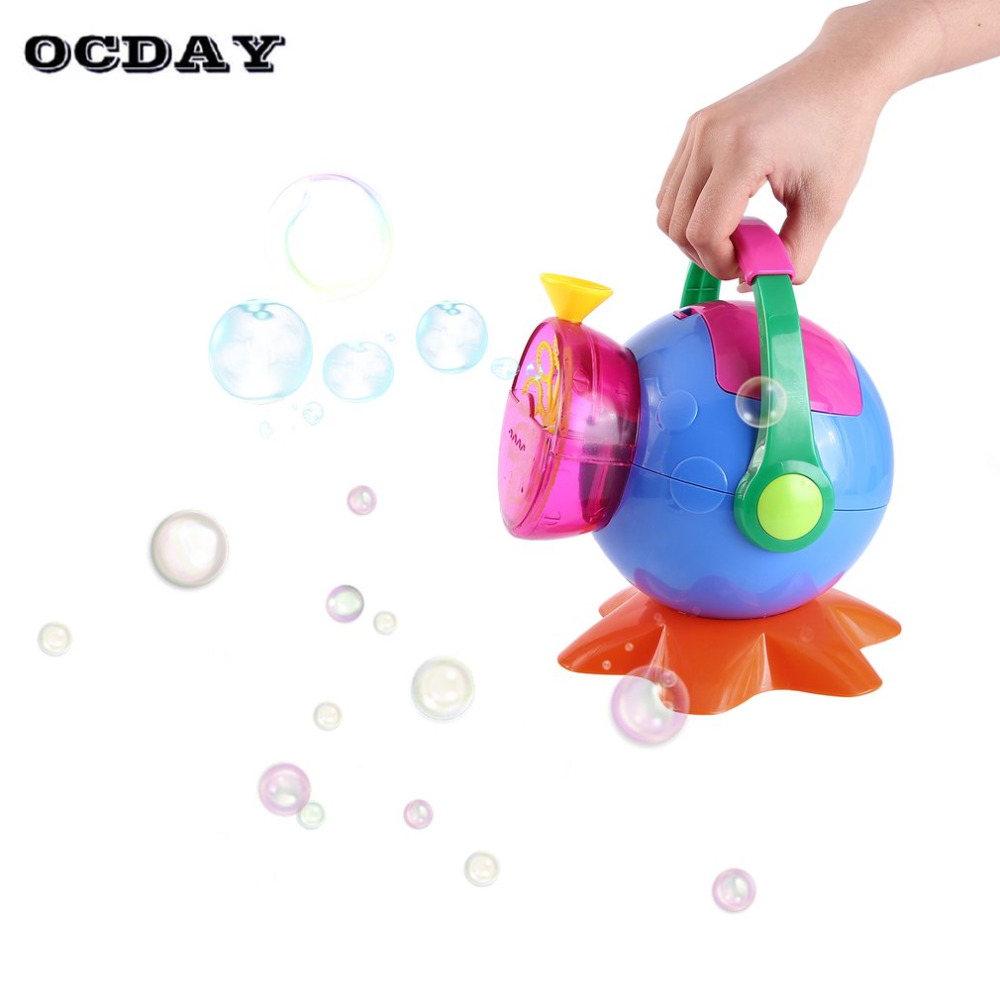 Kids Automatic Big Soap Machine Bubbles Maker Bubble Gun Burbujas Blower Funny Toy for Outdoor Party Children Game Toys Gift