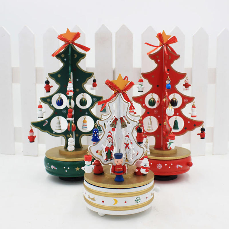 1PC Handmade Christmas Decoration DIY Wooden Tree Shape