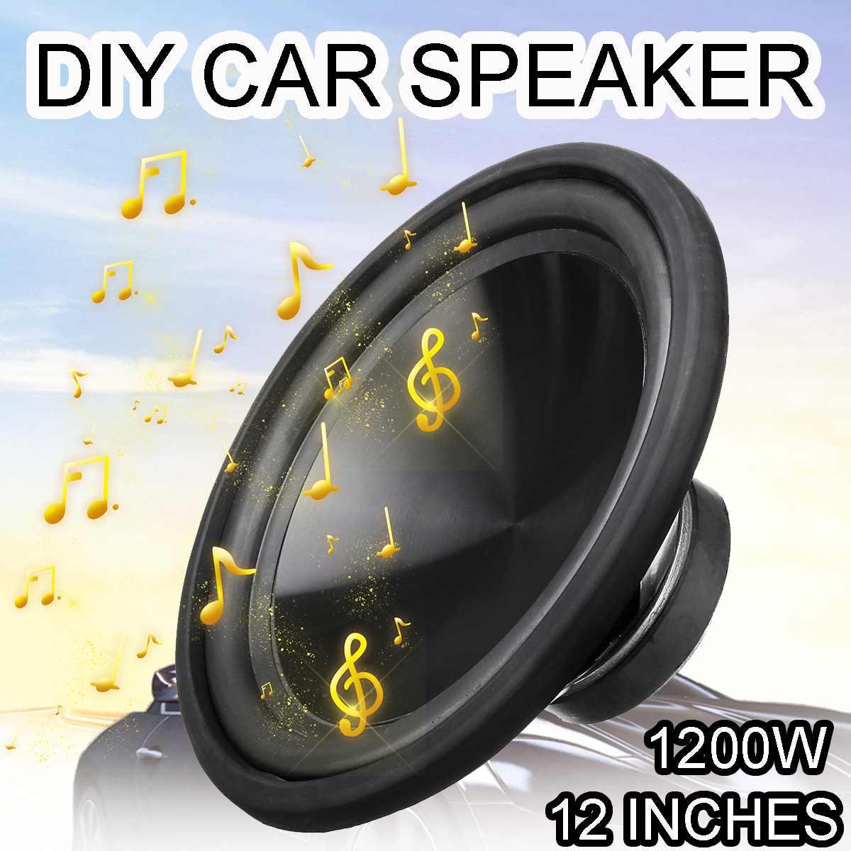 12 pouces 1200 W Auto haut-parleur de voiture haut-parleurs coaxiaux corne Subwoofer voiture bricolage basse corne musique stéréo Hifi véhicule voiture haut-parleur