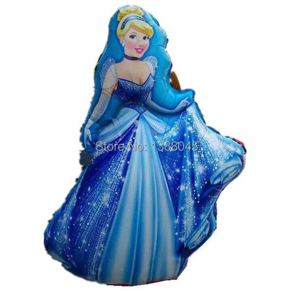 5 unids / lote tamaño grande princesa Cinderlla Belle Elsa Foil - Para fiestas y celebraciones - foto 2