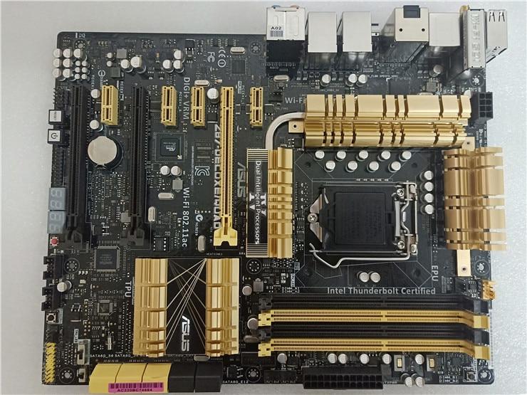 Original Z87 DELUXE/DUAL Desktop Motherboard Z87 Socket LGA 1150 i7 i5 i3 DDR3 32G SATA3 USB3.0 ATXmotherboard used 90%new