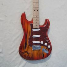 free shipping style ASH wood  electric guitar three single pickups  red preal pickguard купить дешево онлайн