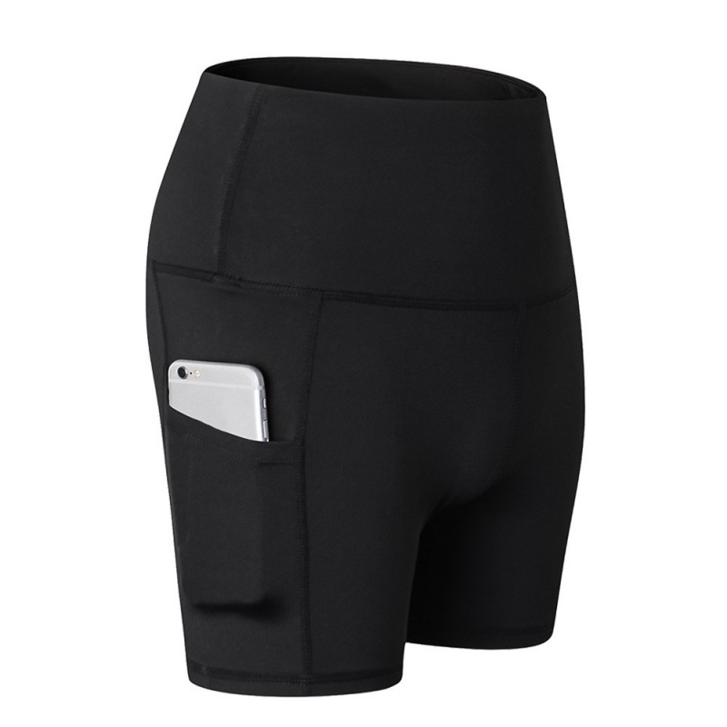 X Women High Waist Slant Pocket Running Training Sports Quick-drying Tight-fitting Stretch Fitness Sports Shorts Gym Shorts(China)