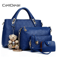 CellDeal High Quality PU Leather Totes Fashion Ladies Shoulder Bags 10 Colors Women Handbags Designer Satchel