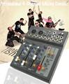 Professional 4 Channel 48V Power Karaoke Studio Microphone Audio Mixer USB Digital Processor Sound Effect Console KTV DJ Mixer