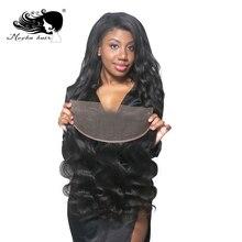 Мокко волосы кружева лобовое Закрытие 13X4 бразильские виргинские волосы объемная волна натуральный цвет человеческие волосы