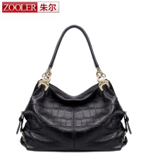 2016 new!ZOOLER bags handbags women famous brands superior cowhide soft leather women shoulder messenger bag fashion black #3611
