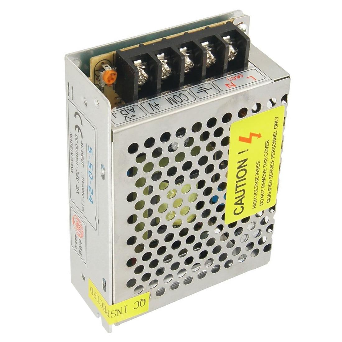 AC 110-220V DC 24V 2A 48W Switch Power Supply Transformer for LED Strip Light
