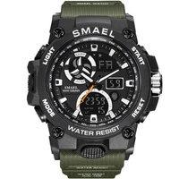 SMAEL Fashion Brand Sport Men Watch Mens Military Army Digital Watches Male S Shock Waterproof Wristwatches Relogio Masculino