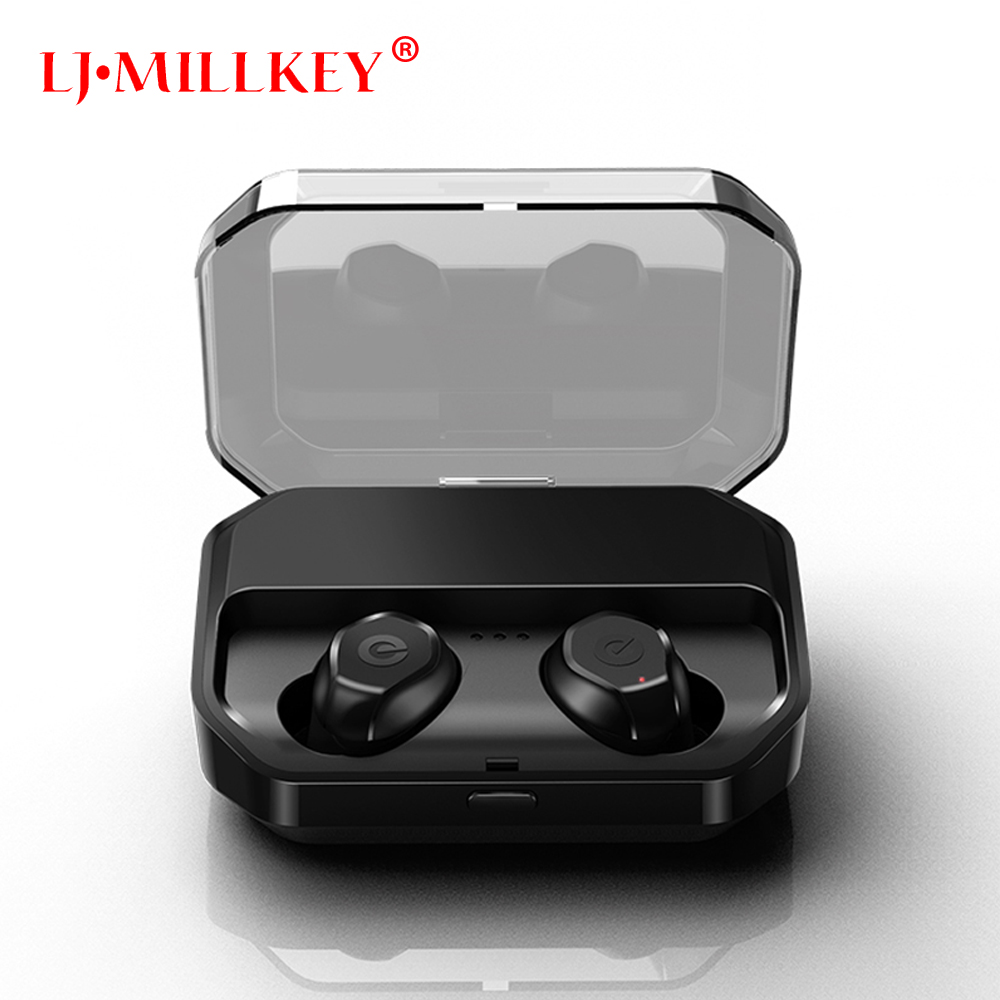 5.0 Bluetooth Touch Control Hifi Earphone with Mic IPX7 waterpr TWS Wireless Earbuds Stereo Mic for Phone with Charger Box YZ207