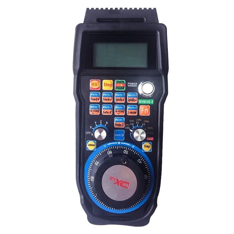 Rueda de mano electrónica inalámbrica MACH3 manija de USB CNC de 4 ejes MPG handheld WHB04B