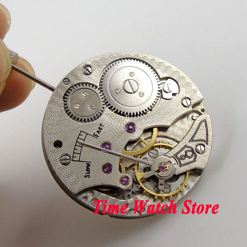 Parnis classic 17 Jewels 6498 Hand-Winding movement fit men's watch small second hand M3 цена и фото