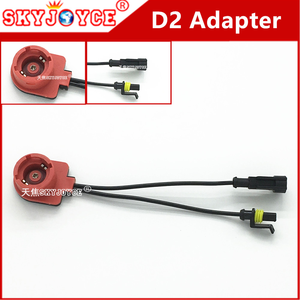 100x Wholesale D2 Adapter For Hid Xenon Bulb 4300k D2s 3000k D2r Wiring Harness 6000k D2c 5k To Amp Connector Ballast Wire Socket Base