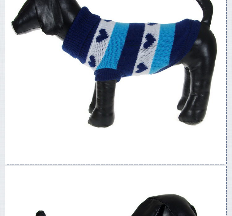 2015 venta caliente de moda rayado perro mascota suéter ropa para ...