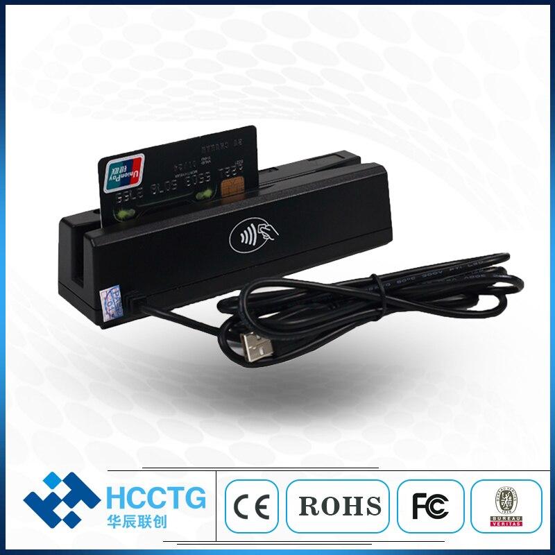 HCC-100 de lecteur de carte à puce Programmable à bande magnétique USB MSR IC