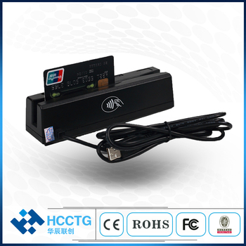Programmable USB Magnetic Stripe MSR IC Chip Card Reader HCC-100
