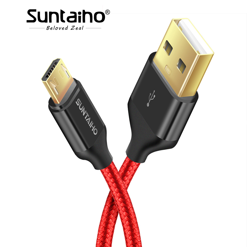 Suntaiho Fever core USB Charging cable,Nylon USB Fast Charging Cable 5V2.5A, for iPhone 7 7Plus 6 6s Plus 5s/Samsung/xiaomi