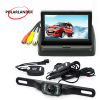 Auto LCD Mirror Monitor For Vehicle Parking Assistance 4.3 Inch Optional Backup Rearview Camera HD Foldable TFT