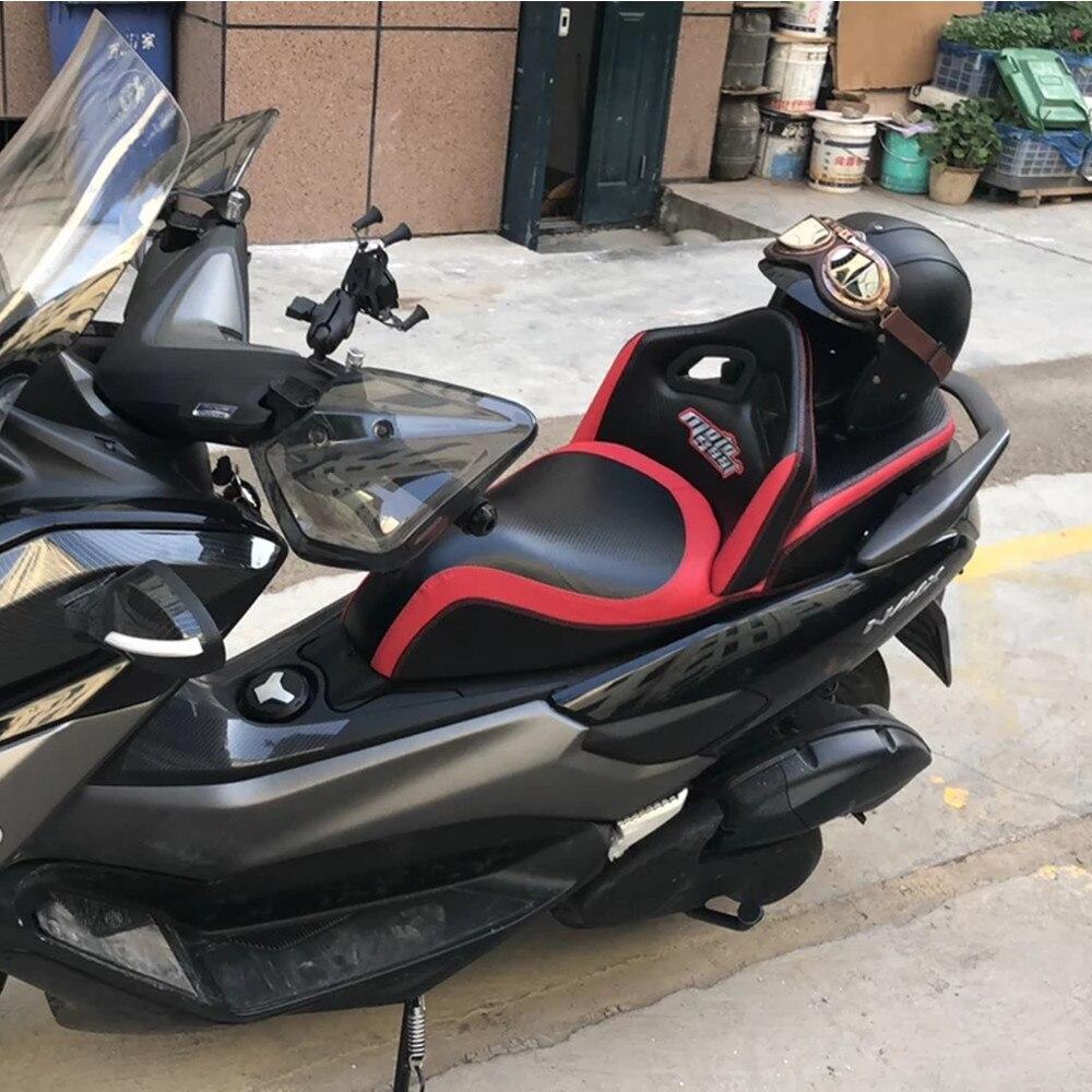 Modifié moto cuir imperméable dossier passager pad selle siège coussin plat tapis pour YAMAHA nmax NMAX155 NMAX125 150