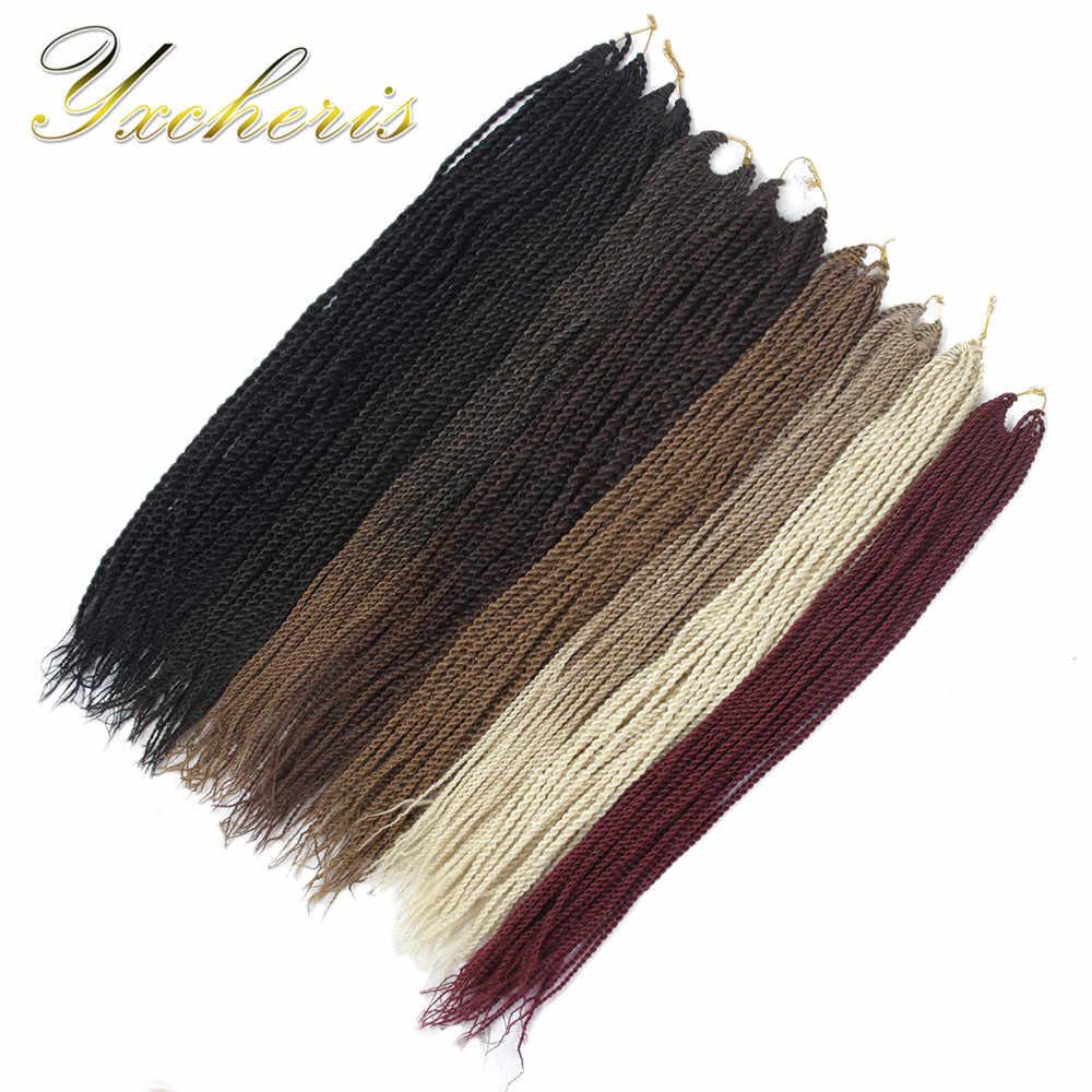 Высокотемпературная синтетическая Сенегальская завивка плетение волос Омбре длинные серые вязаные для канекалон
