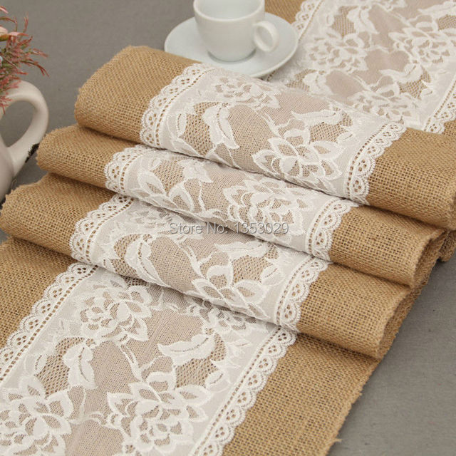 30cm275cm Jute Hessian Burlap Rustic Wedding Table Runner Vintage Christmas Home Decor Cloth