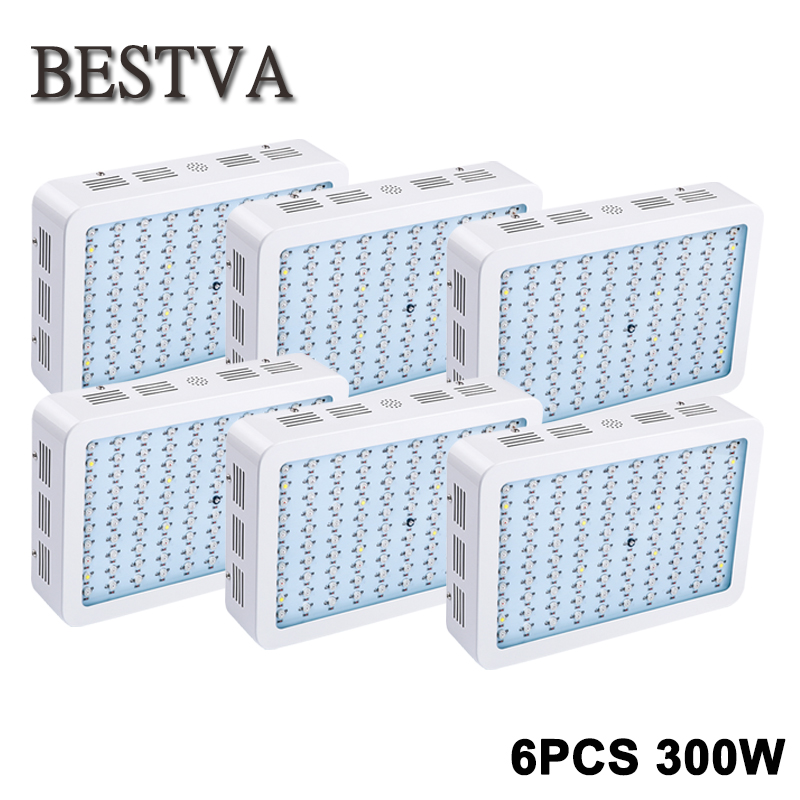 BESTVA 6pcs 300W Led grow light full spectrum for indoor plants medical veg flower grow led lamp greenhouse houseplants led grow light 300w full spectrum grow lamps for medical flower plants vegetative indoor greenhouse grow lamp